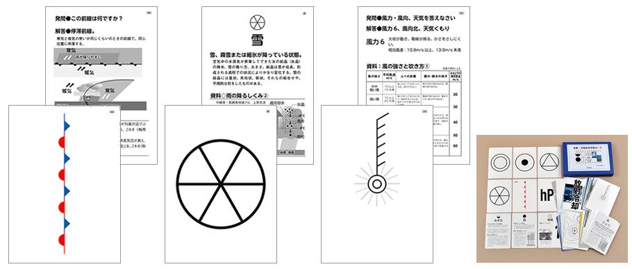 気象・天気記号学習カード
